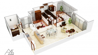 3D House Designs and Floor Plans