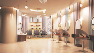 Mall Hair Salon Shop Render