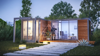 Container House Exterior Render