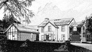 Hill Exterior Illustration