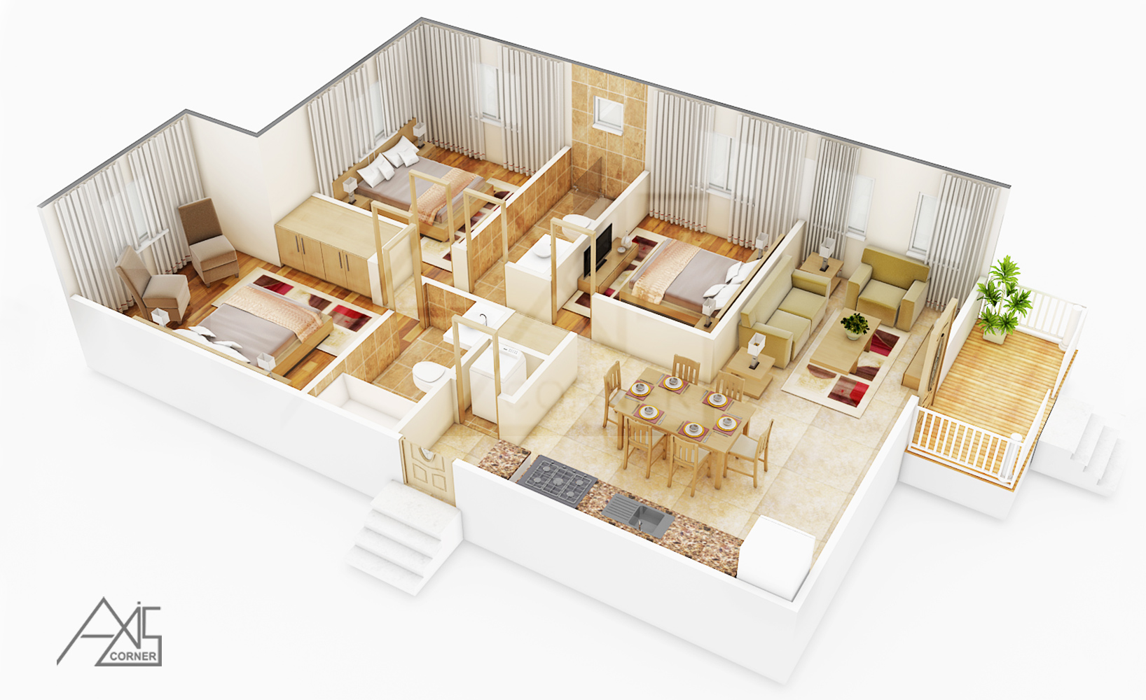 3d architectural floor plans rendering portfolio 3d for 3d planner